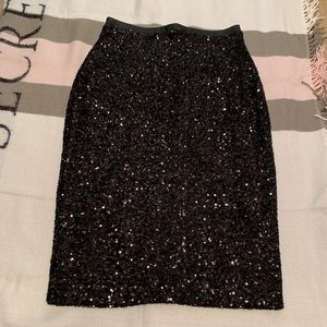 Express pencil sequin skirt 🖤✨👁
